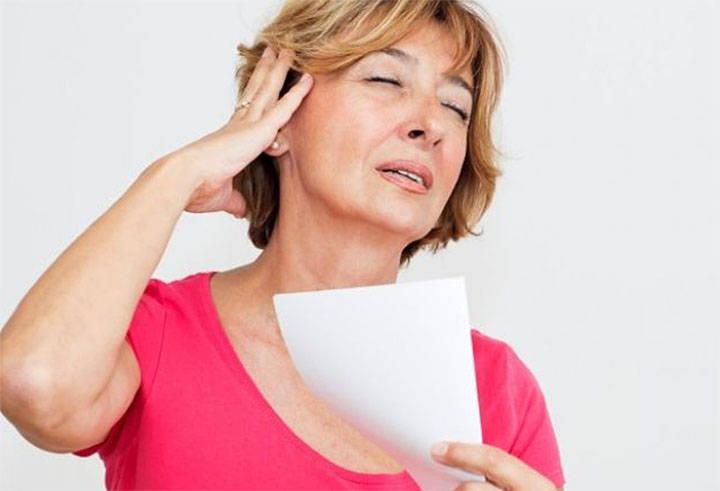 Лечение приливов во время климакса без гормонов